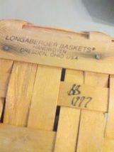 Longaberger May Basket - 1997 - Leather Strap Handles image 5
