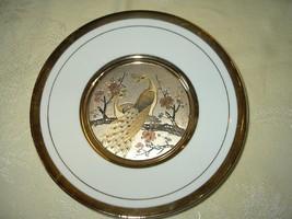 The Art Of Chokin 24K Gold Trimmed Plate-Peacock - $9.99