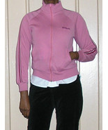 1980s vintage pink white stripes striped wilson track jacket size small xs - $24.74