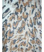 1970s vintage leopard jacket silver glitter size medium large animal print  - $24.74