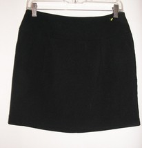 forever 21 stretch black hipster pleated pockets mini short skirt size m... - $4.89