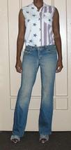 1990s stretch newport news grunge hipster flares boyfriend jeans size 4 medium  - $19.79