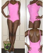 1960s vintage neon bright pink bullet pointy bra swimsuit 1 piece size small 4 6 - $49.49
