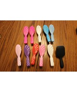 Barbie Doll Fashion Avenue RAINBOW HAIR BRUSH SET-Salon Vanity Beauty To... - $9.49