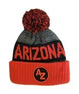 Arizona AZ Patch Ribbed Cuff Knit Winter Hat Pom Beanie (Red/Black Patch) - $11.95