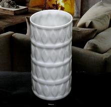 Vintage Hutschenreuther Vase Selb Germany Kunstabteilung White Porcelain... - $30.00