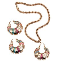 Ethlyn 2018 African/Nigerian Jewelry Set for Women Hit Colorful Spiral Round Pen - $31.77