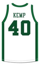 Shawn Kemp Concord High School Basketball Jersey Sewn White Any Size image 4
