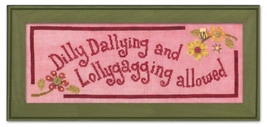 Dilly Dally ATH1019 button pack + Art To Heart cross stitch JABC - $15.30