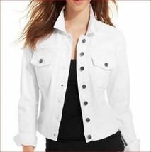 new CALVIN KLEIN women jean jacket CD0D2U93 white sz S $129 - $49.49