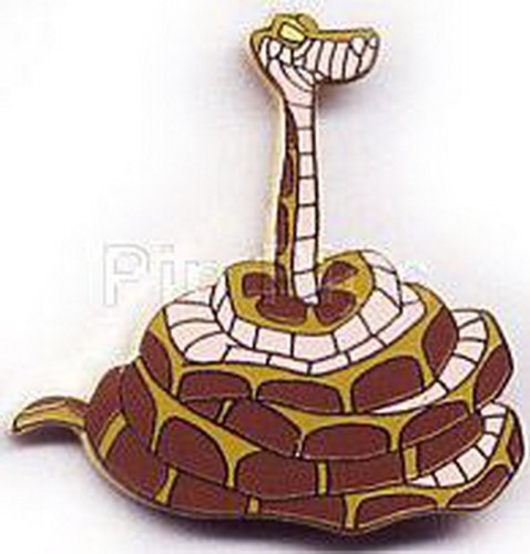 Disney Kaa  snake - Jungle Book full body Coiled and head sticking up pin/pins