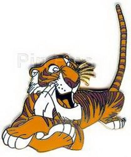 Disney Jungle Book Shere Khan  tiger full body lying down tail in air pin/pins