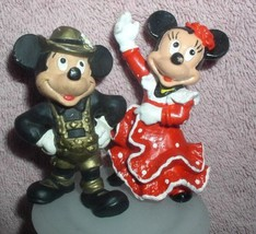 Disney Mickey Australian and Minnie Spanish Bully West Germany PVC 2 Figurines - $29.02