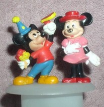 Disney Mickey Mouse  and Minnie Mouse birtday party PVC 2 Figurines - $16.98