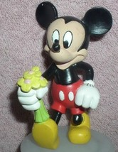 Disney Mickey Mouse  holding flowers for Minnie Mouse PVC Figurine - $10.99