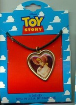 Disney Toy Story 1 Bo Peep heart  Necklace On Original Card - $14.50