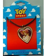 Disney Toy Story 1 Bo Peep heart  Necklace On Original Card - $14.50