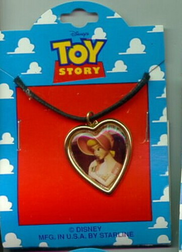Disney Toy Story 1 Bo Peep heart  Necklace On Original Card