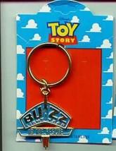 Disney Toy Story 1  Buzz Lightyear Logo body  Key Chain On Original Card - $24.18