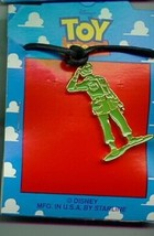 Disney Toy Story 1 Green Army Man Full body  Necklace On Original Card - $18.85