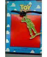 Disney Toy Story 1 Green Army Man Full body  Necklace On Original Card - $18.85