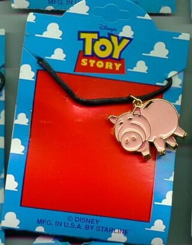 Disney Toy Story 1 Ham the Pig  Full body  Necklace On Original Card