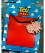 Disney Toy Story 1 Ham the Pig  Full body  Necklace On Original Card - $18.85