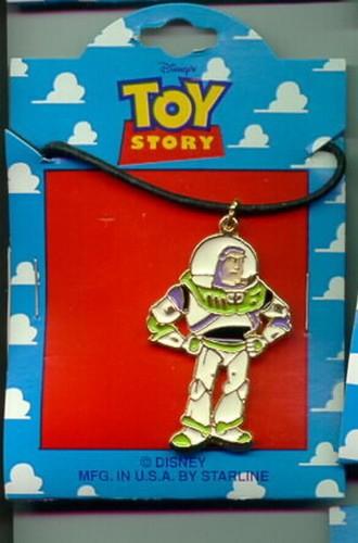 Disney Toy Story 1 Buzz Lightyear  Full body  Necklace On Original Card