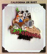 Disneyana Convention California or Bust Goofy Mickey Artist Choice pin/pins - $55.00
