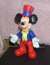 Disney Mickey Mouse as Uncle Sam Red White blue Epcot Center  PVC Figurine Lot 1 - $12.99