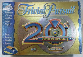 Trivial Pursuit 20th Anniversary Edition BOARD GAME Parker Brothers Horn... - $25.00