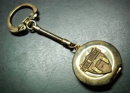 Ohio Caverns Locket Style Key Chain Gold Colored Metal with Ohio Caverns Emblem - $6.99