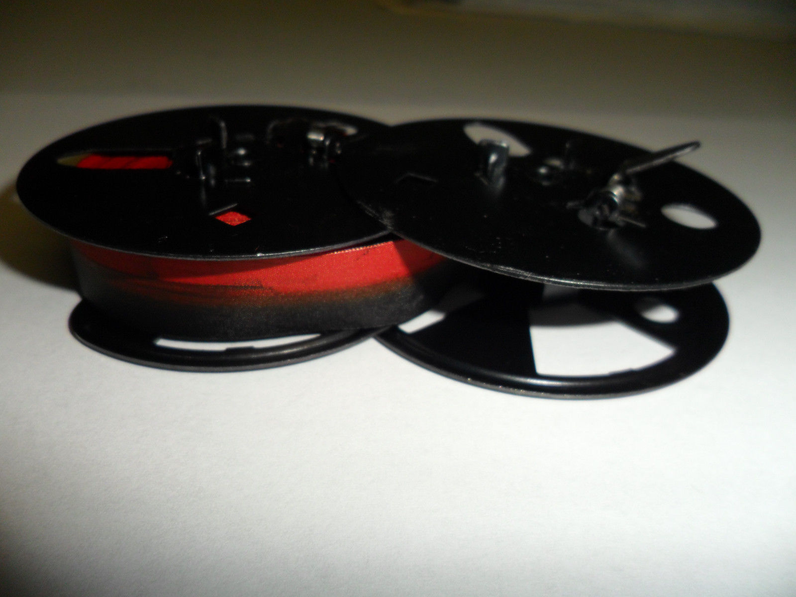 "Royal KHM Typewriter Ribbon Black and Red  2 3/8"" Metal Spool"