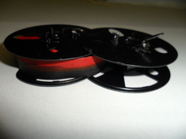 """Royal Emperor Empress Typewriter Ribbon Black and Red  2 3/8"""" Metal Spool"""