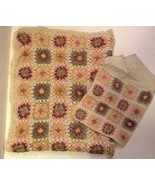 Patchwork Embroidered Throw Blanket With Matching Case - $30.20
