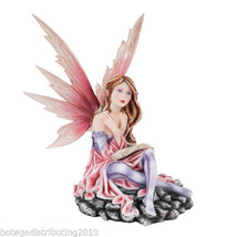 "12"" H Fairy Statue Reading Pondering Figurine Fairyland Legends Book Keeper - $51.00"