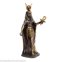 HATHOR FIGURINE ANCIENT EGYPTIAN GODDESS MOTHER LOVE  STATUE BRONZE LIKE - $38.99