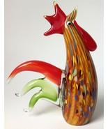 Murano Art Glass Ann Primrose Rooster Lattimo Aventurine Cristalleria Ar... - $79.15