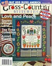 Cross Country Stitching Magazine Feb. 2002 Snowy Village, Tea Time, Goodness - $12.50