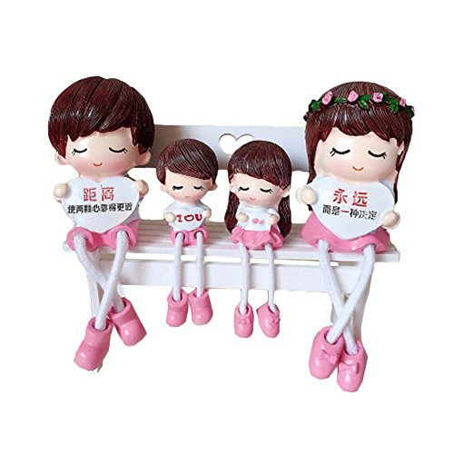 George Jimmy Creative Home Decorations Cute Cartoon Lovers Desktop Decorations C - $28.96