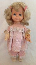 "Vtg Timey Tell Doll Mattel 18"" Blonde Hair Watch No Talk Pull String 1964 1969 - $24.99"