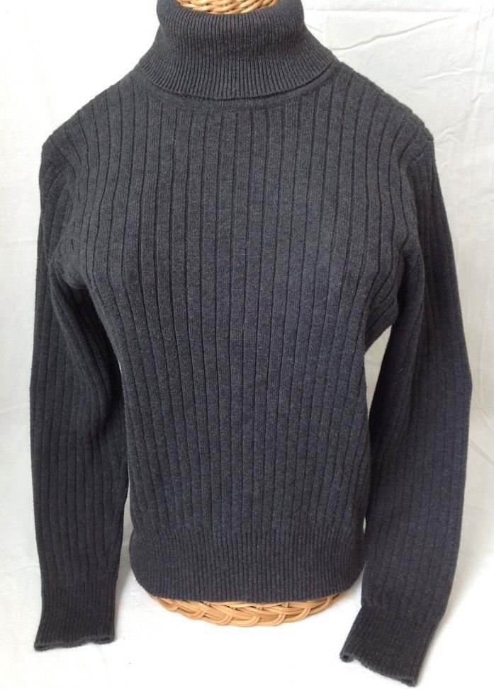 Pria Charcoal Gray Turtleneck Sweater Ribbed and 49 similar items