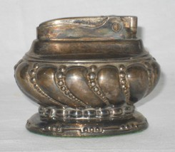 Ronson Crown Silverplate Table Lighter Art Deco Vanity Cigarette Cigar - $24.95
