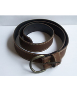 Womens Brown Leather Belt Size 20W #leather #le... - $15.00