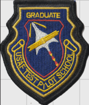 """US Air Force Test Pilot School Graduate 4"""" Tall Patch - Hook and Loop - $13.99"""