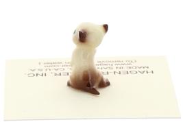 Hagen-Renaker Miniature Cat Figurine Tiny Siamese Kitten Boxing Chocolate Point image 2