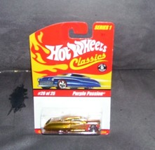 Hot Wheels Classics #20 of 25 PURPLE PASSION Diecast Gold w/Red Flames NEW! - $7.96