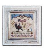 Long May She Wave  cross stitch chart Barbara Ana Designs - $10.80