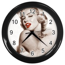Marilyn Monroe  Decorative Wall Clock (Black) Gift model 35666398 - $18.18