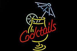 "Cocktails Martini Umbrella Beer Bar Neon Light Sign 16"" x 14"" - $599.00"